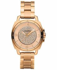 NWT Coach WOMEN'S BOYFRIEND Rose Gold Tone Swarovski Crystal WATCH 34mm 14502002