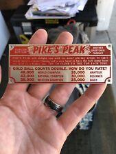 Pikes Peak Trade Stimulator Marquee NOS Groetchen Machine