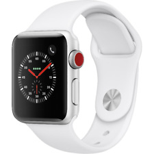 Apple Watch Gen 3 Series 3 Cell 38mm Silver Aluminum - White Sport Band