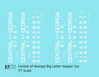 K4 TT Decals Central Of Georgia Offset Twin Hopper White Big Lettering