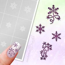 Schablonen Airbrush + Nailart SET73 Weihnachten Winter Schneeflocken Schnee SET