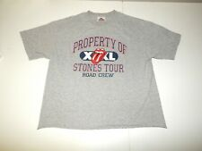 Property of Rolling Stones Tour XXL Road Crew Shirt Adult Medium Vtg 1990s