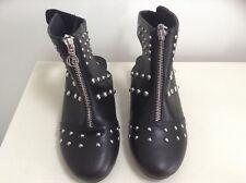 Ladies Black Boots UK 3 River Island Studded Detail