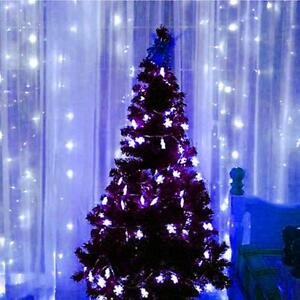 3mX3m Waterfall 300LED/ Water Flow String Light Wedding Party Xmas Decorate Blue