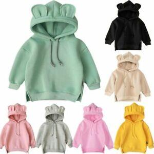 Toddler Baby Kid Boys Girls Hoodie Cartoon Ear Sweatshirt Hooded Pullovers Tops~
