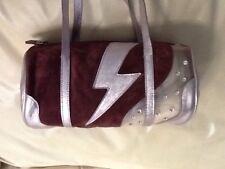 Miu Miu Barrel Bag,Pale Pink Metallic Leather , Rhinestones , Rare Design, Italy