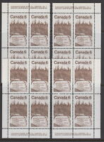 CANADA #516 6¢ Sir Alexander MacKenzie Matched Set Plate Blocks MNH