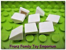 New LEGO Mini Slopes Lot of 8 White 1x1x2/3 Roof Tile Finishing Snow Brick Parts