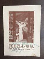 """""""The Two Mrs. Carrolls"""" Cast Signed Program-Elizabeth Bergner/Victor Jory"""