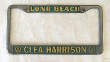 Clea Harrison Volkswagen VW Dealer Long Beach, California License Plate Frame