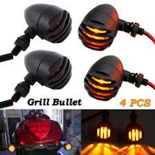 4X Black Motorcycle Turn Signal Lights Mini Bullet Blinker Amber Indicator Light(Fits: Mastiff)