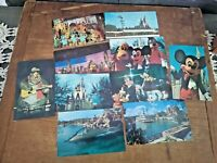 VINTAGE DISNEY POSTCARDS UNUSED LOT OF 10 1970S