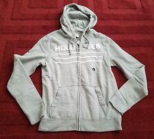 7fb97a281 NWT Men Hollister Hoodie Jacket Sweatshirt Fleece Full Zip Track Casual  Cotton S