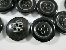 Knopf Knöpfe  20  stück  braun glänzend  horn knöpfe  25  mm groß   #3163#