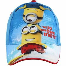 Boys Kids Minion Character Summer Sun Baseball Adjustable Cap Age 6-9 Years