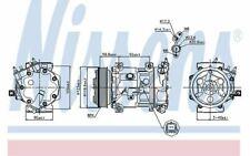 NISSENS Compresseur de climatisation 12V pour PEUGEOT 308 207 CITROEN C4 89067