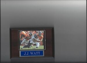 J.J. WATT PLAQUE HOUSTON TEXANS FOOTBALL NFL