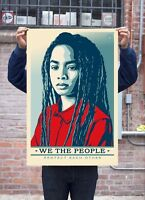 """Shepard Fairey We The People Protect Each Other 24"""" x36"""" Offset Print Lithograph"""