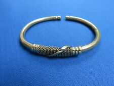 Brass Plated Wire Bracelet A Kenya East African Ethnic Jewelry