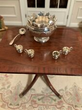 Miniature Artisan Signed Acquisto Sterling Silver Set Of 4 Cups