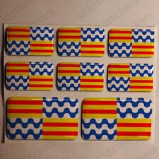 Pegatinas Badalona España Pegatina Bandera Adhesivo Ciudad 3D Relieve Resina