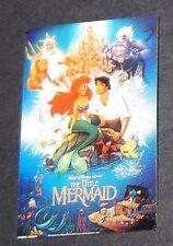 LE Disney Pin✿One Sheet Framed Movie Poster Little Mermaid Ariel Triton Ursula