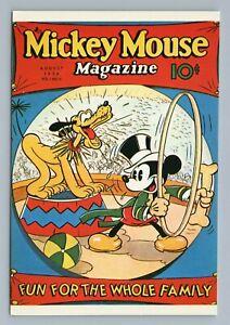 "Vtg Mickey Mouse Magazine Cover Art Disney Postcard 4x6"" Circus Ringmaster Pluto"