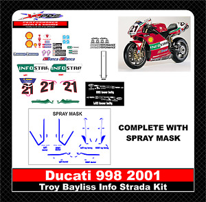 2001 Ducati 998 InfoStrada Decal Kit (Including Spray Masks)