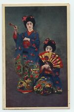 Women in Kimonos #022 JAPAN OLD POSTCARD Maiko Girls (Geisha Girls)