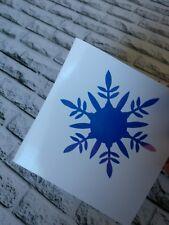Snowflake Christmas Decal Holographic Blue Vinyl Car Tumbler Mug cup decal 3.5 h