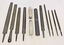 12 pc Steel File Wood Rasp Set Metal Half Round Mill Saw Flat Shoe Handle