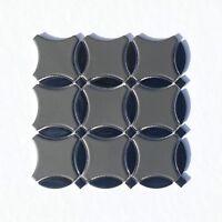 Orbital Dark Side Decorative Mosaic Porcelain Wall Kitchen Bath Backsplash Tile