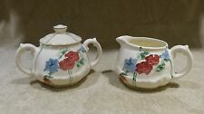 Pottery by Levine '93 Sugar Bowl and Creamer Floral free shipping