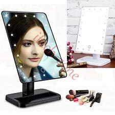 Desktop 20 LEDs Lighting Adjustable Makeup Bathroom Vanity Dressing Table Mirror