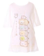 TP-181-22 Stapel Katzen Cat Maus Sushi Weiß Grafik lang T-Shirt Harajuku Kawaii