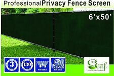 New 6' X 50' Fence Privacy Screen Outdoor Backyard Fencing Windscreen dark green