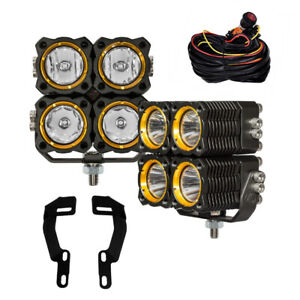KC Toyota Tacoma 2005-2015 Pillar/Ditch Mount KC FLEX LED Quad Combo Light Kit