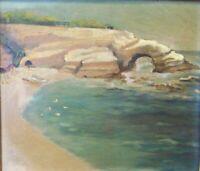 LAGUNA ART COLONY SO CALIFORNIA EARLY 20 CENTURY LA JOLLA COVE COASTAL PAINTING