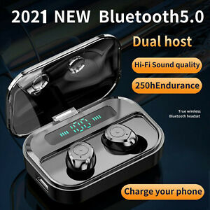 Wireless Bluetooth Headphones TWS  Earphones Earbuds In-Ear For iOS Android Pods