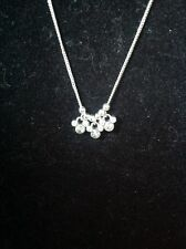 disney mickey mouse rhinestone pendents 17 in silver tone....