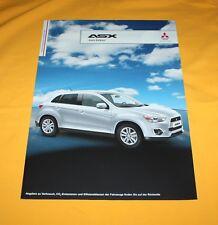 Mitsubishi ASX Intro 2012 Prospekt Brochure Depliant Catalog Prospetto Folder