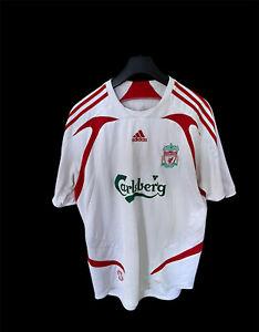 Liverpool Away Football Shirt 2007/08 Adults M Adidas E685