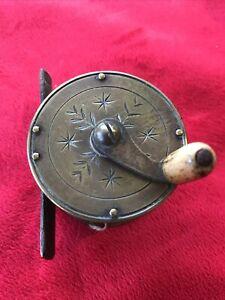 Vintage Antique Brass Reel- 2 Inch Crank Wind Fly Fishing Reel