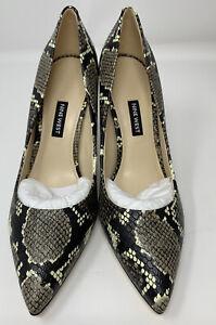 Nine West Ezra3 Pumps High Heels Women's Size 9.5M Snake Print