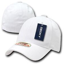 White Solid Blank Plain Flex Baseball Ball Ultra Fit All Cap Caps Hat Hats S/M