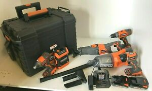 RIDGID R9257SB 18V Tool Combo Kit (7 TOOL) with Rolling Case, N M