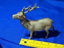 Antique Celluloid THIN Plastic Xmas Tree Ornament Santa Claus Reindeer VTG Rare