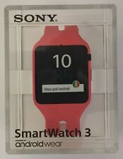 Sony SmartWatch 3 PINK SWR50 Android 4.3 NFC IP68 GPS SW3 Waterproof RETAIL PACK