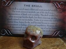 *SKULL* Carved Stone Figurine Totem (1) FREE Bonus LOOK Wiccan Pagan Gift