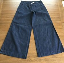 LUCKY BRAND Palazzo Pant Womens Size 0/25 Dark Wash Wide-Leg Jeans EUC